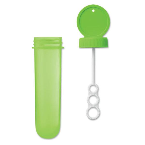 bolle di sapone colore verde
