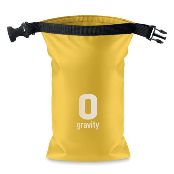 borsa impermeabile mare colore giallo con logo