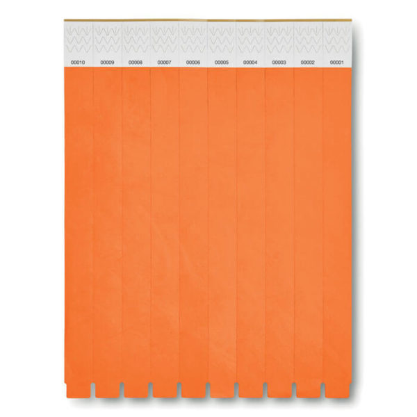 braccialetti tyvek arancio