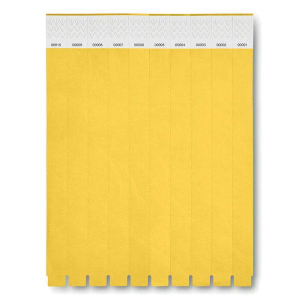 braccialetti tyvek giallo