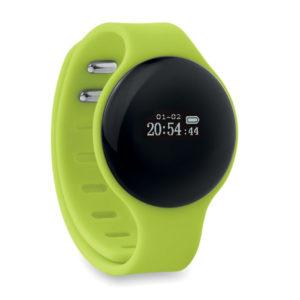 braccialetto fitness verde per attività fisica
