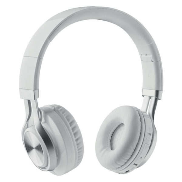 cuffie personalizzate bluetooth on ear colore bianco
