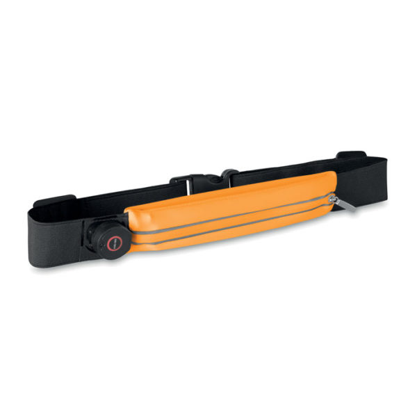 marsupio personalizzato con led colore arancio