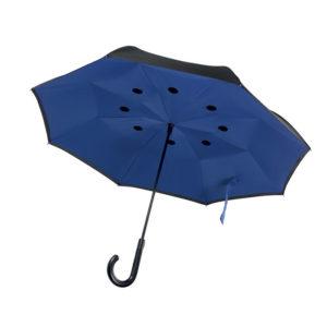 ombrello inverso blu