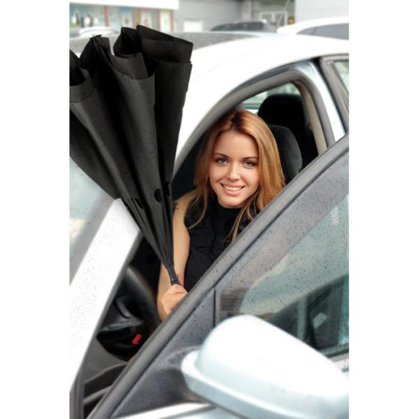 ombrello inverso personalizzato apertura all'uscita dall'auto