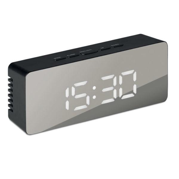 orologio con termometro elegante da scrivania acceso