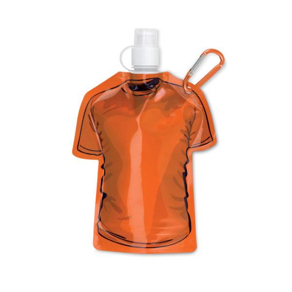 bottiglie personalizzate a di forma maglietta colore arancio