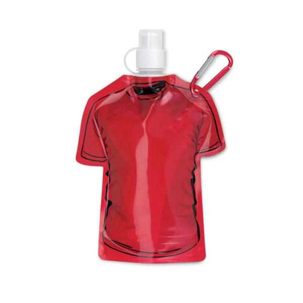 bottiglie personalizzate a di forma maglietta colore rosso