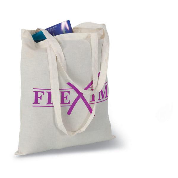 shopper cotone naturale con stampa logo