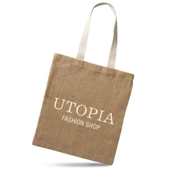 shopper in juta personalizzate con logo azienda