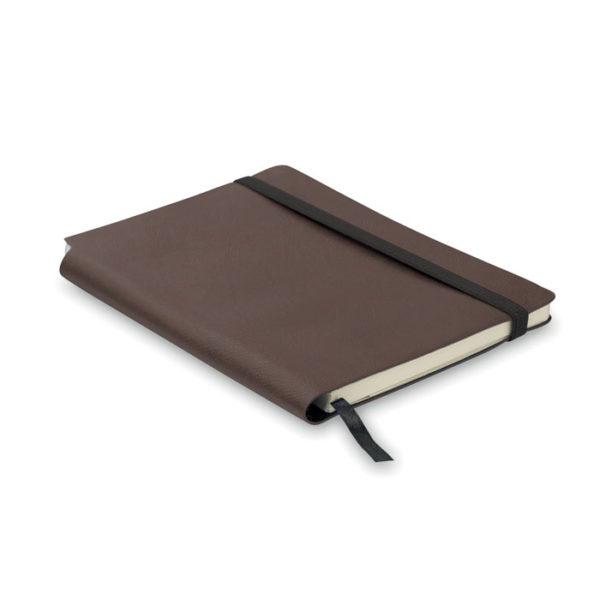 taccuino a5 copertina soft personalizzato colore marrone