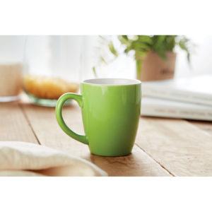 tazze personalizzate in ceramica colore verde