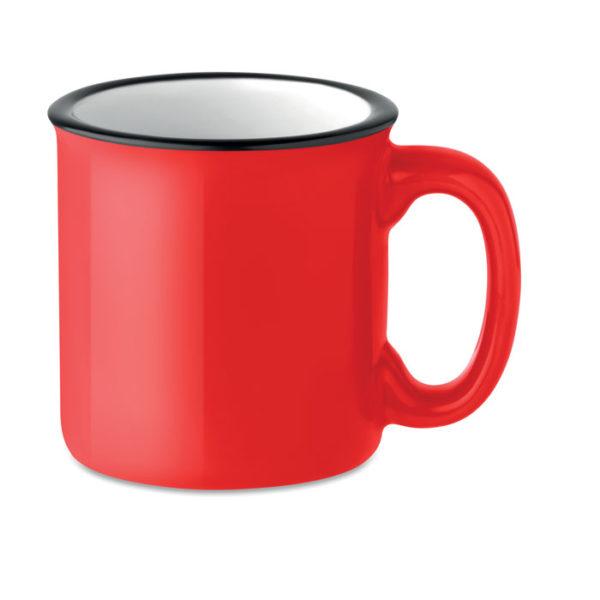 tazze vintage personalizzate colore rosso