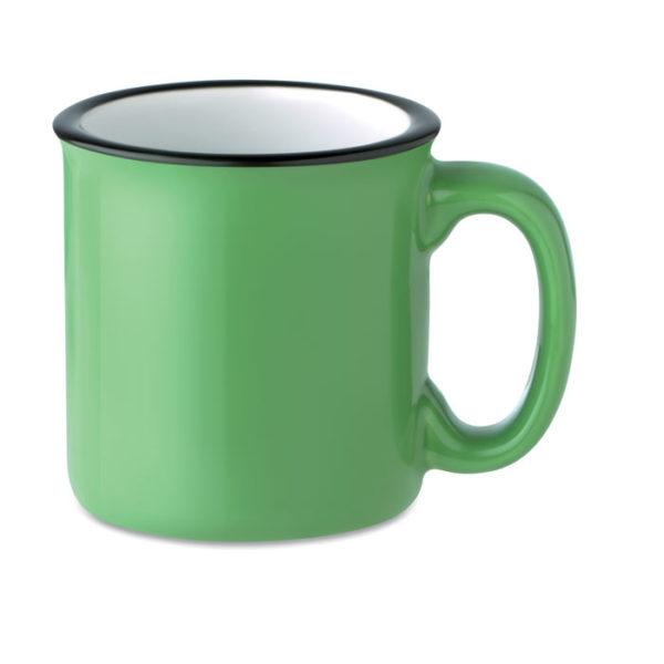 tazza vintage personalizzata colore verde