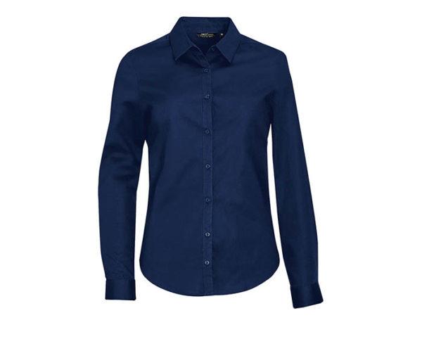 camicia donna elegante blu scuro