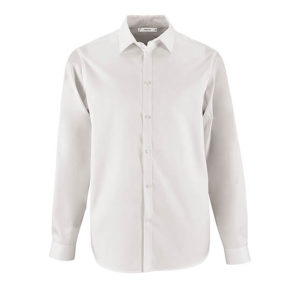 camicia personalizzata con logo bianca