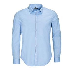 camicia uomo manica lunga blu chiaro