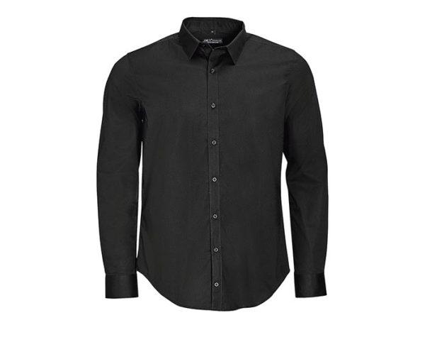 camicia uomo manica lunga nero