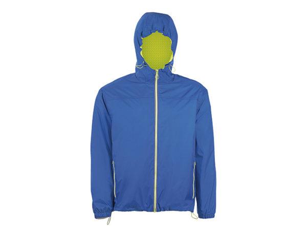 giacca a vento blu