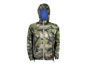 giacca a vento camo