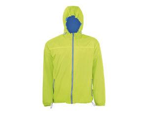 giacca a vento verde lime