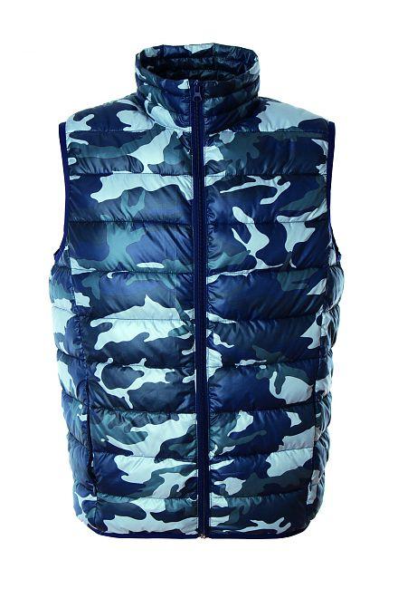 gilet imbottito uomo camouflage blue nancy