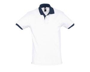 polo bicolore personalizzate bianco