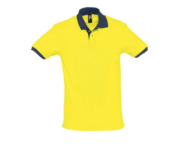 polo bicolore personalizzate gialle