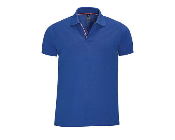 polo manica corta uomo blu royal