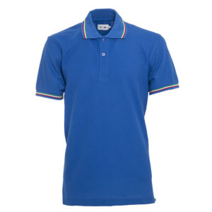 polo tricolore personalizzate blu