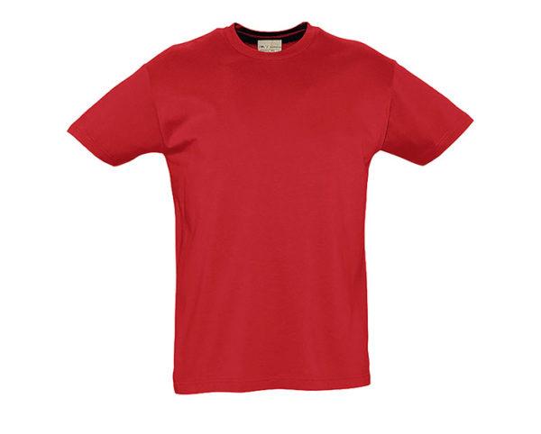 t-shirt cotone biologico rosso
