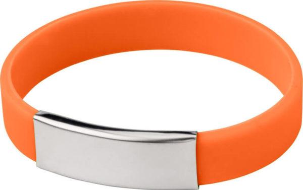 braccialetti silicone personalizzabili colore arancio