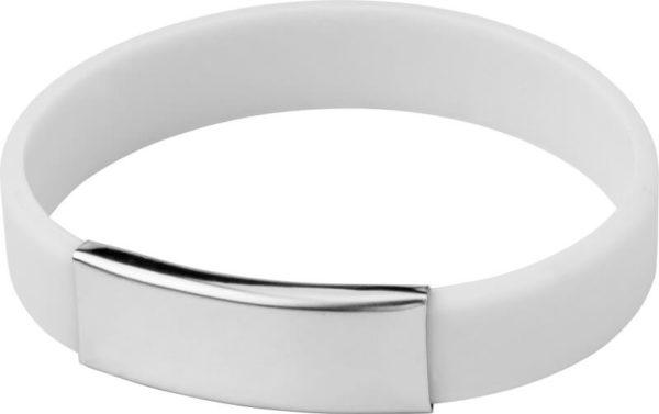 braccialetti silicone personalizzabili colore bianco