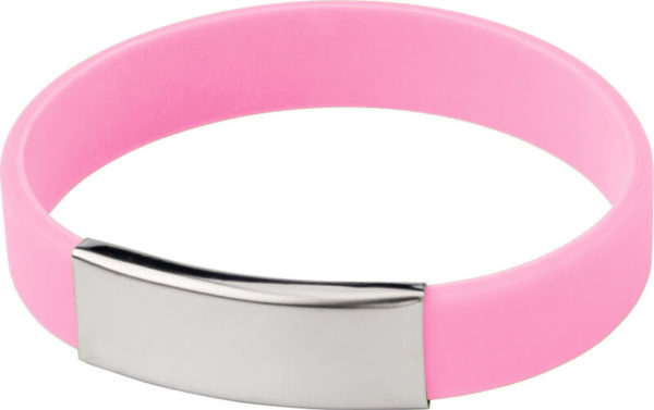 braccialetti silicone personalizzabili colore rosa