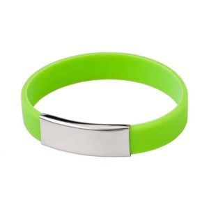 braccialetti silicone personalizzabili colore verde
